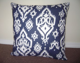Decorative Pillow Cover, Navy/White Pillow Cover,  Abstract Navy/White Pillow Cover