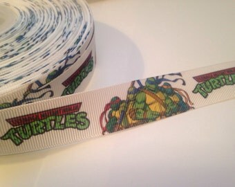"TMNT Grosgrain Ribbon 7/8"" 1 yard"