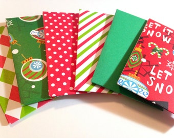 Set of 6 Gift Card Holders,Christmas Gift Card Envelopes