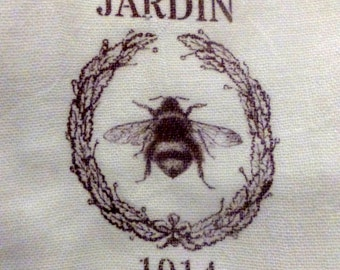 Paris Flour Sack Towel -Bee Towel - Paris Kitchen towel - JardinTowel - Tea towel-100% cotton - decorative kitchen towel
