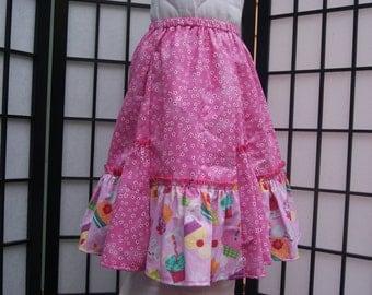 3T Gathered Skirt, Cotton Skirt