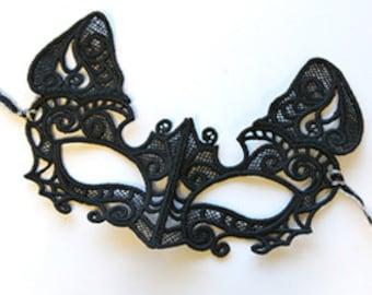 Cat Mask Masquerade Gothic mask Halloween Mardi Gras Costume