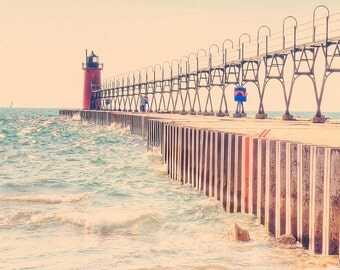 Midwest beach photo etsy for Beach house designs south haven mi