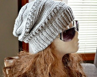 CROCHET PATTERN-Everly Slouch Hat, Crochet hat pattern, beanie pattern, teen crochet pattern, hat pattern