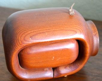 Super Cute Vintage Redwood Pig Drawer