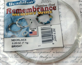 Bright Silver Memory Wire, .25oz., Stainless Steel, Jewelry Making, Findings, Craft Supplies