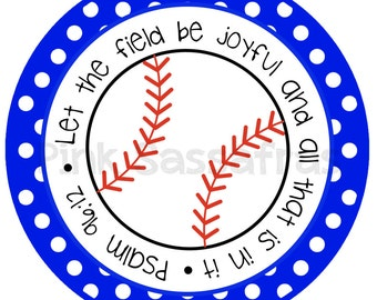 Let the Field be Joyful Baseball Iron On Transfer