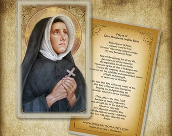 St. Madeleine Sophie Barat Holy Card or Wood Magnet  #0127