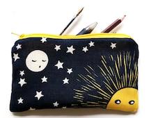 illustrated pencil case - Moon awaits the sun