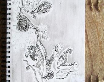 Botanica Lace notebook spiral bound