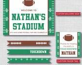 Classic Football Birthday Party - Football Birthday Printable Party Set - DIGITAL DESIGN