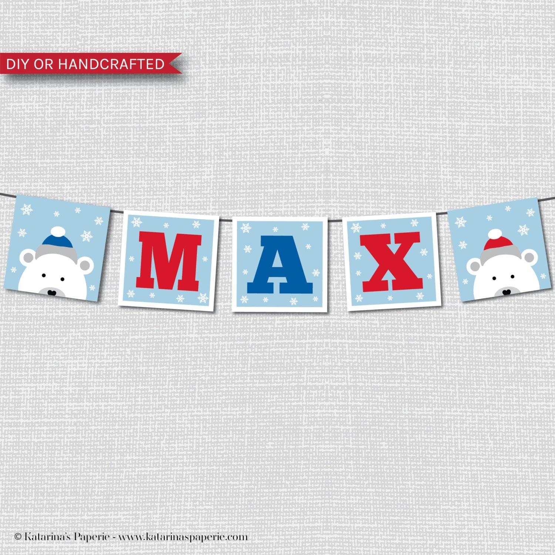 Trolls Happy Birthday Banner We Can Easily Add An: Custom Polar Bear Happy Birthday Party Banner Polar Bear