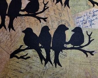 Die Cut Paper Bird Silhouettes.  #CR-26