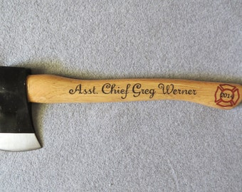 Personalized Firefighter Axe - Promotion/Name