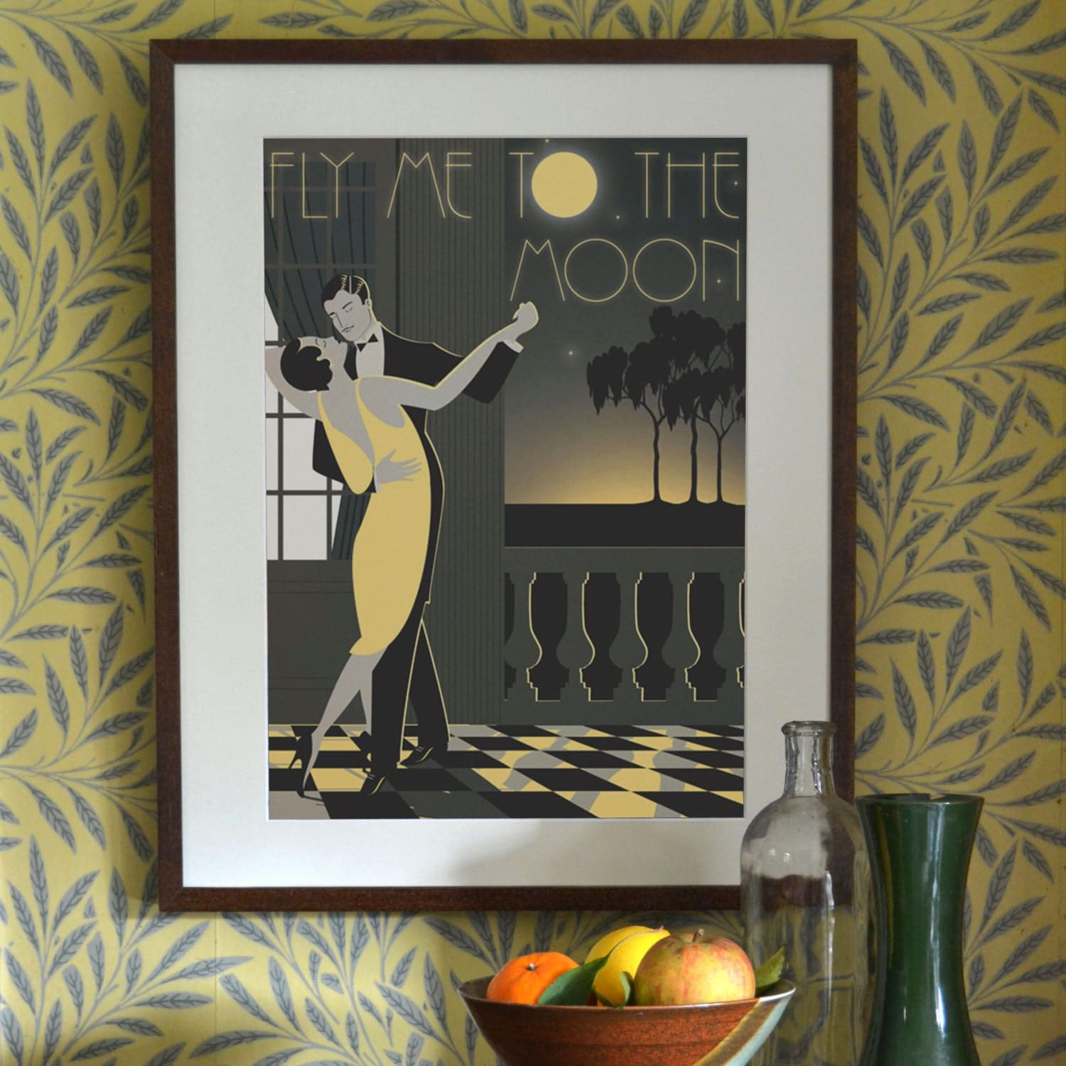 Art Deco Posters: Original Design A3 A2 A1 Art Deco Bauhaus Poster By