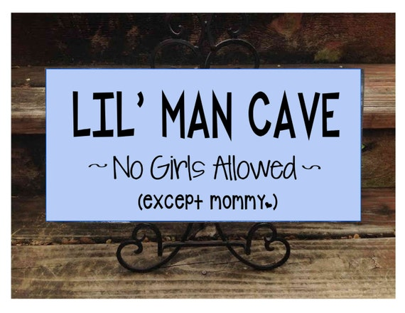 Man Cave Baby Room : Boy cave sign little man boys room decor