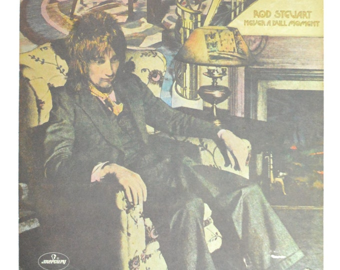 Vintage 70s Rod Stewart Never a Dull Moment Tri-fold Album Record Vinyl LP