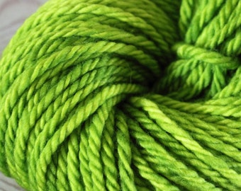 Elven Green Superwash Bulky - Moon Stone Farm Yarn