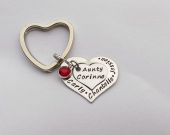 Personalised Auntie present - personalized Auntie gift - Auntie keyring keychain - Auntie Aunty Aunt personalised gift present birthday