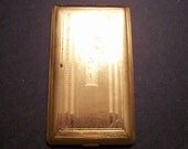Vintage Brass Elgin American Cigarette case