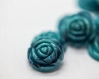 12mm Flower Cabochon 6 Pieces