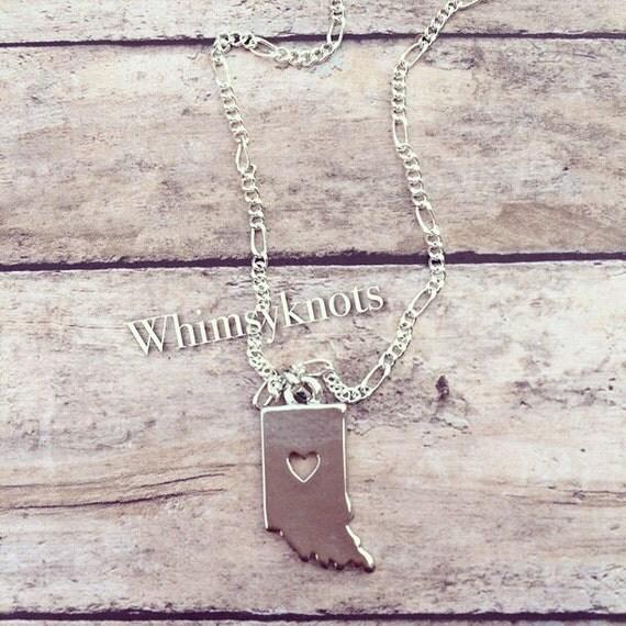 Indiana shaped charm necklace.