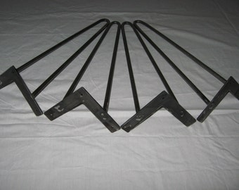 "Mid- Century Hairpin Legs 18"" or 20"" ( Bare Metal ) New Reproduction U.S.A. ""FREE SHIPPING """