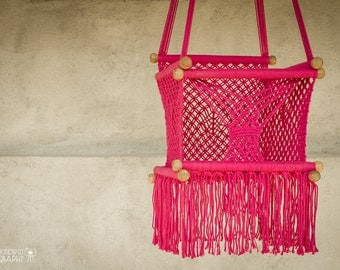 Baby swing chair - How To Make Macrame Jhula Baby Swing Chair 14 In Macrame 1 Year
