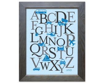 """ABC Poster Travel/Automobile - Printable - 11""""x14"""" and 8""""x10"""""""