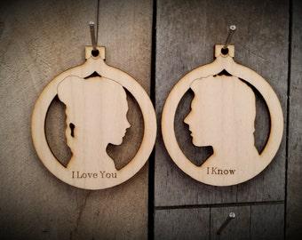 Han and Leia Cutout Ornament