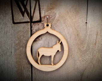 Donkey Cutout Ornament