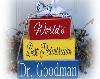 World's Best Pediatrician Wood Stacking Blocks