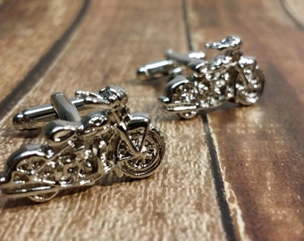 Motorcycle Cufflinks- Mens Cuff links, Motorcycle Cufflinks with a Gift Box, Harley Davidson, Suziki, Chopper
