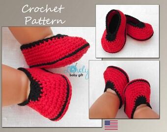 Crochet Pattern, Baby Shoes Crochet Pattern, Baby Slippers Crochet Pattern, Instant Download, CP-201