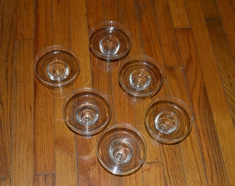 Vintage sherbet glasses. Set of 6. Very fragile glass.Perfect condition
