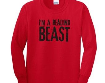 I'm A Reading Beast Youth Long Sleeve T-Shirt 2400B - RV-112