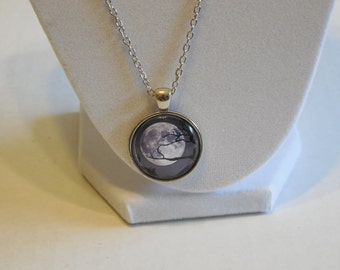 MOON Glass dome necklace