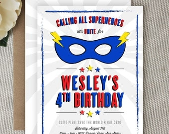 Super Hero Invitation. Superhero Invitation. Super Hero Party. Superhero Party. Superhero / Super Hero Birthday. Comic Book/Daredevil Party.