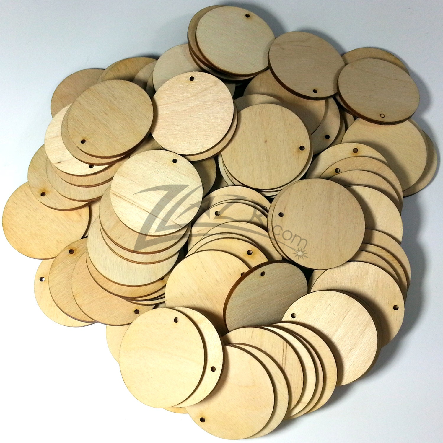 100 wood circles 1 5 x 1 8 1 key chain hole craft for Wood circles for crafts