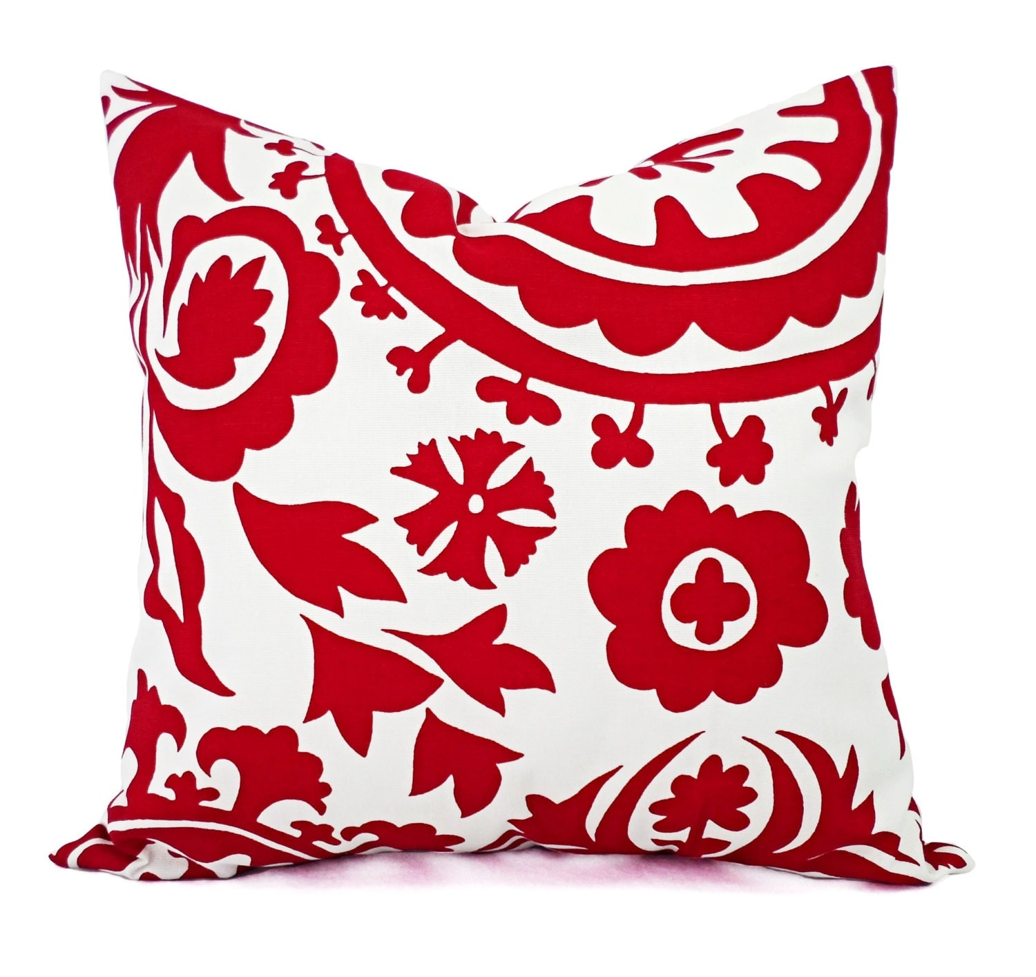 Throw Pillow Red : Two Red Pillows Red Pillow Covers Red Decorative Pillow
