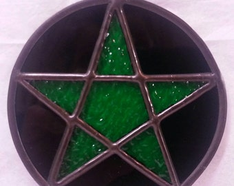 Stained Glass Pentacle