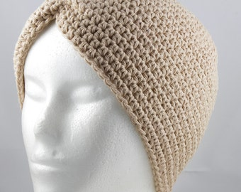 Tan Turban Hat 2 for Cancer Patients