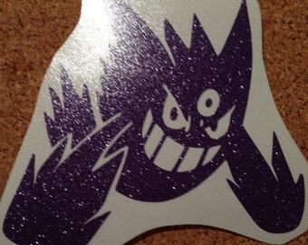 Mega Gengar/ Shiny Mega Gengar Pokemon Vinyl Decal