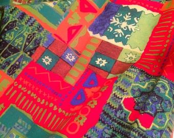Colorful retroinspired mod fabric. Etno.