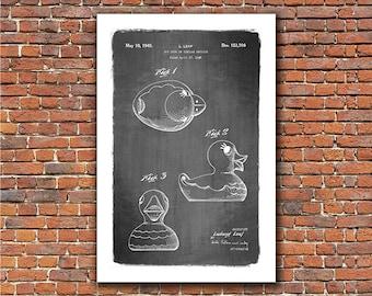 Rubber Duck, 1949 Patent Art Print