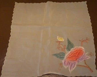 Vintage China Souvenir Handkerchief