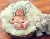 Elephant Ear Hat  and Diaper Cover Newborn to 3 months