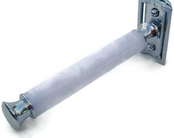 Pearl White Acrylic Double Edge Safety Razor  DE Razor Handle Wet Shaving