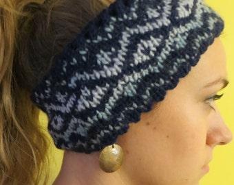 wool handknit woman's headband