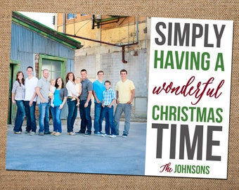 Wonderful Christmas Time Holiday Card